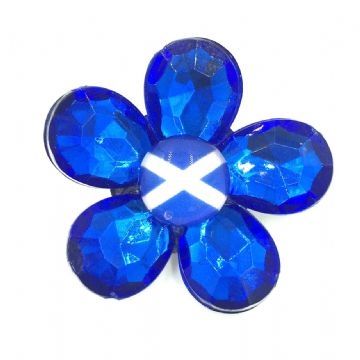 Make your own Scottish saltire flower brooch - 40mm - 13mm x 18mm beads